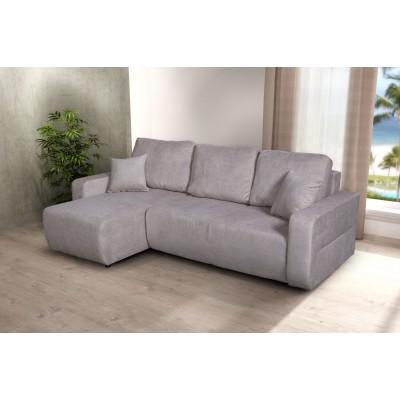 Γωνιακός καναπές κρεβάτι με αποθηκευτικό χώρο 236x146εκ. AMARETTO Μπεζ