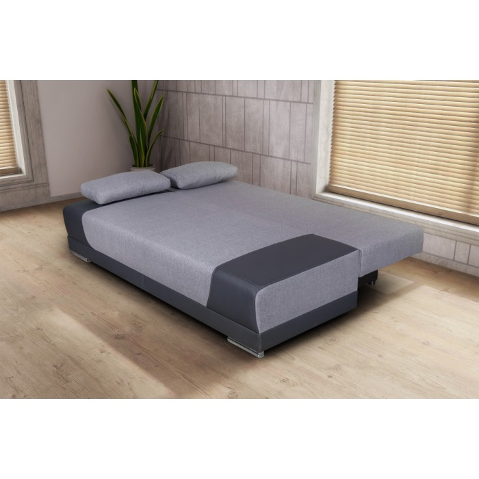 Καναπές κρεβάτι με αποθηκευτικό χώρο 200x95εκ.CAPRICE Γκρι ανοιχτό - Γκρι  ΚΑΝΑΠΕΔΕΣ ΚΡΕΒΑΤΙ, επιπλα - insidehome.gr