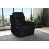 Πολυθρονα Relax με ηλεκτρική ανάκλιση MS02 Ύφασμα Μαύρο