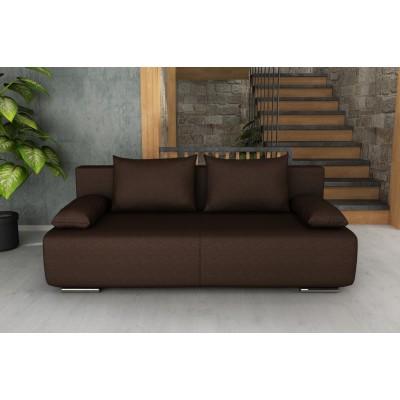 Καναπές κρεβάτι με αποθηκευτικό χώρο 194x93εκ. GEORGIA Καφέ Σκούρο