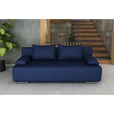 Καναπές κρεβάτι με αποθηκευτικό χώρο 194x93εκ. GEORGIA Μπλέ
