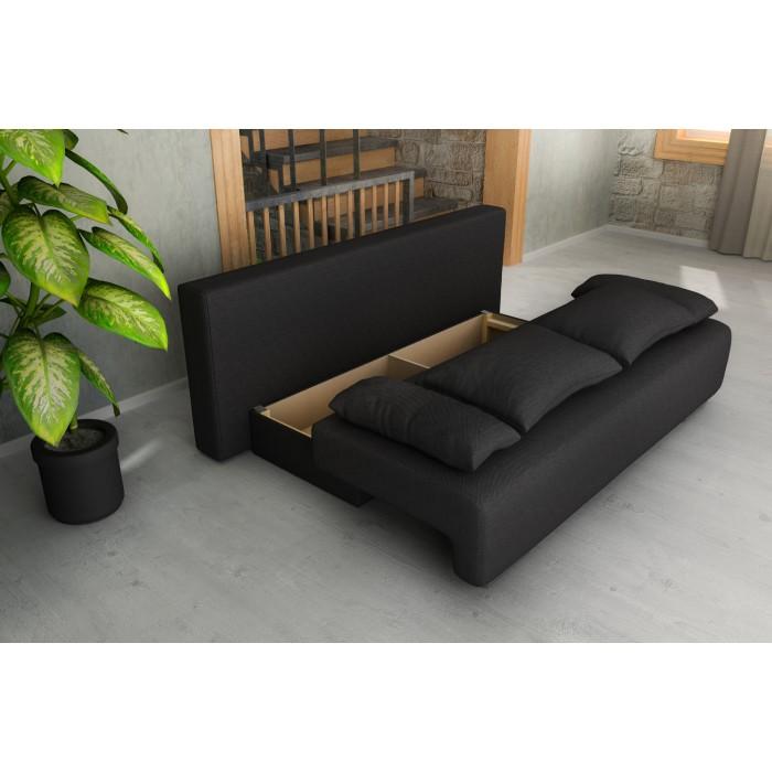 Καναπές κρεβάτι με αποθηκευτικό χώρο 194x93εκ. GEORGIA Ανθρακί