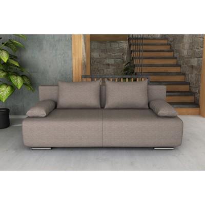 Καναπές κρεβάτι με αποθηκευτικό χώρο 194x93εκ. GEORGIA Γκρι Ανοιχτό