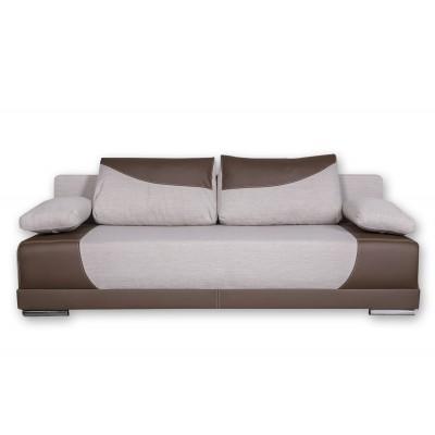 Καναπές κρεβάτι με αποθηκευτικό χώρο 200x95εκ.CAPRICE Μπεζ-Καφέ