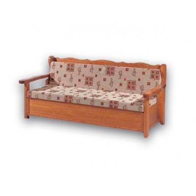 Καναπές ξύλινος ντιβανομπάουλο