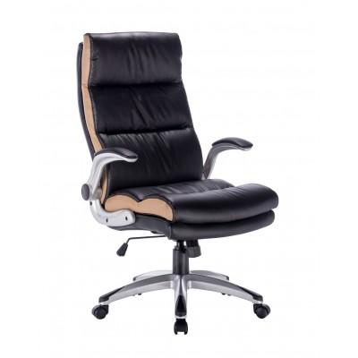 Πολυθρόνα γραφείου SP20 Μαύρο/Ανοιχτό Καφέ