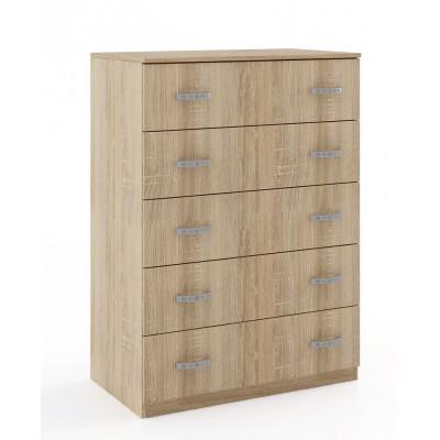 Συρταριέρα με 5 συρτάρια 80x45x111εκ. KW53 Sonoma