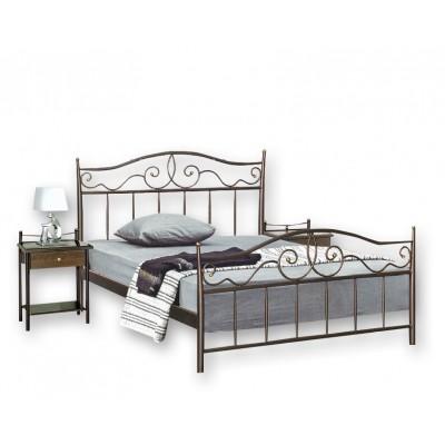 Μεταλλικό διπλό κρεβάτι N60