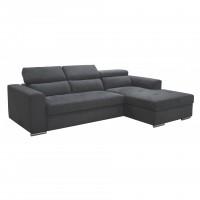 Γωνιακός καναπές κρεβάτι με αποθηκευτικό χώρο 260x170εκ.  VENICE NV04 Γκρι Δεξιά Γωνία