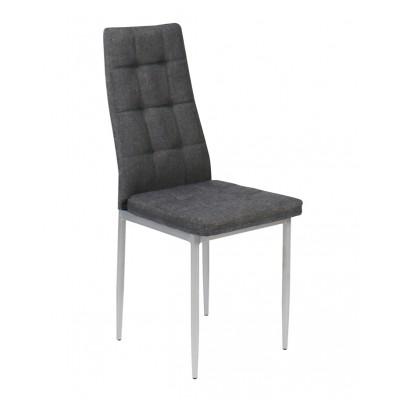 Julia καρέκλα μεταλλική με ύφασμα 40χ48.5χ96εκ. XS17 Γκρι