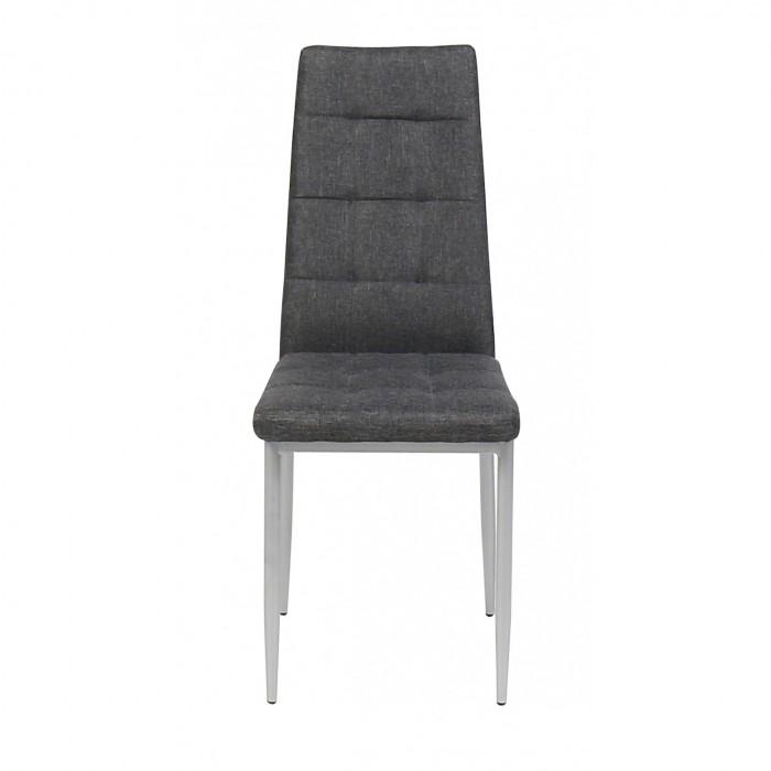 Καρέκλα μεταλλική με ύφασμα 40χ48.5χ96εκ. XS17 Γκρι ΜΕΤΑΛΛΙΚΕΣ, επιπλα - insidehome.gr