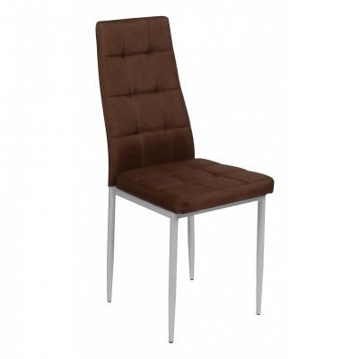 Julia καρέκλα μεταλλική με ύφασμα 40χ48.5χ96εκ. XS17 Καφέ