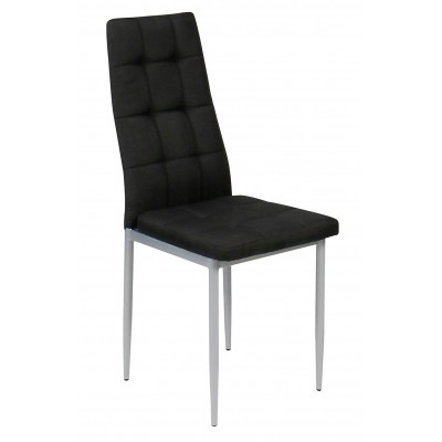 Julia καρέκλα μεταλλική με ύφασμα 40χ48.5χ96εκ. XS17 Μαύρο