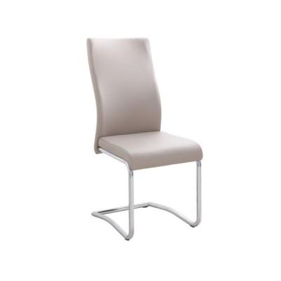 Καρέκλα μεταλλική με τεχνόδερμα WWM931 Cappuccino
