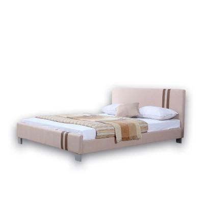 Ντυμένο διπλό κρεβάτι 160X200εκ. JN 177 Μπεζ