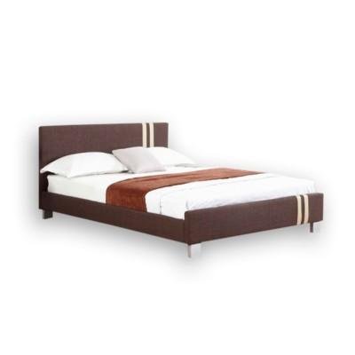 Ντυμένο διπλό κρεβάτι 150x200εκ. JN 177 Καφέ