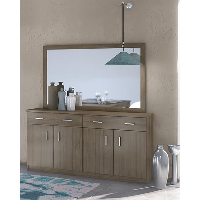 Μπουφές με καθρέπτη 159χ40χ84εκ. POL01 ΜΠΟΥΦΕΔΕΣ, επιπλα - insidehome.gr