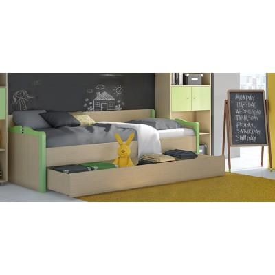 Καναπές κρεβάτι παιδικός για στρώμα 90χ190εκ. POL03