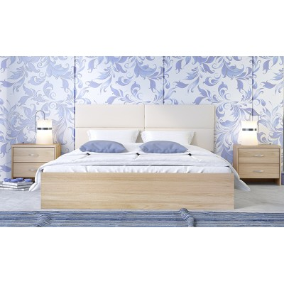 Κρεβάτι ξύλινο διπλό POL06 150χ200εκ. ΝΤΥΜΕΝΑ ΚΡΕΒΑΤΙΑ, επιπλα - insidehome.gr