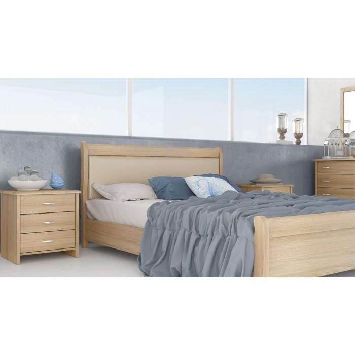 Κρεβάτι ξύλινο POL26A ΞΥΛΙΝΑ ΚΡΕΒΑΤΙΑ, επιπλα - insidehome.gr