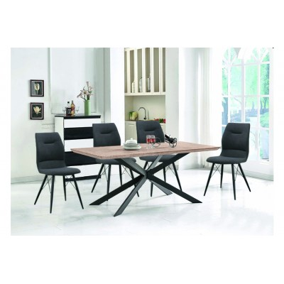 Τραπέζι Sonoma με 4 καρέκλες Γκρι HL20